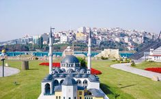 Eyup Sultan Mosque at Miniaturk Park in Istanbul of Turkey