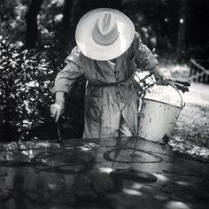 Joan Miró, (1893-1983), Spanish Catalan painter, sculptor, and ceramicist at work