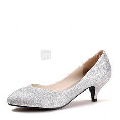 Women's Spring / Summer / Fall Heels / Pointed Toe Glitter Wedding Kitten Heel Blue / Purple / Red / Silver / Gold 2016 - $33