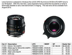 New Leica products leaked (Leica M Monochrome, X2, 50mm Cron)