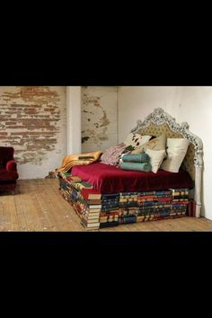 I have been wondering what I could use for a bed frame - maybe someone has an old set of Encyclopedia Britannica they wanna get rid of...?