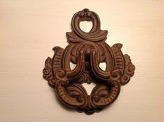 Vintage Cast Iron Door Knocker by CalVintageDesigns on Etsy, $24.00 Knobs And Knockers, Antique Hardware, Iron Doors, Cast Iron, Flaws, Rustic, Canning, Antiques, Vintage