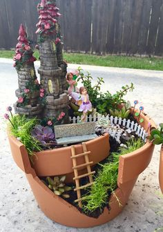 DIY Fairy Garden - w