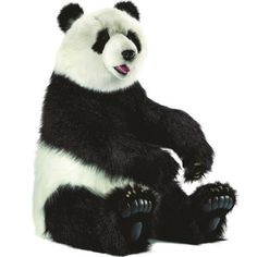 Tao Giant Panda and Rocking Horses in Play : Toys For Boys at PoshTots Panda Stuffed Animal, Large Stuffed Animals, Bear Toy, Panda Bear, Big Panda, Tao, Animal Facts, Like Animals, Pet Toys