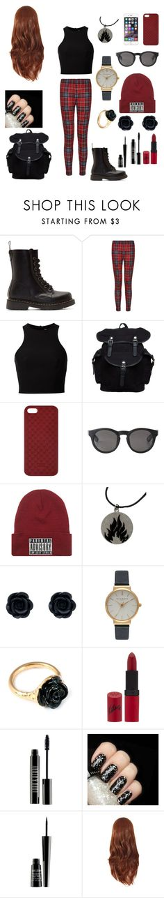 """""""winter punk"""" by peneloperoca ❤ liked on Polyvore featuring Dr. Martens, T By Alexander Wang, Your Turn, Gucci, Monki, Olivia Burton, LeiVanKash, Rimmel, Lord & Berry and Illamasqua"""