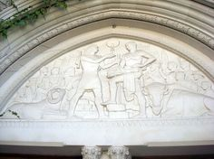 Frieze over the door of the Oriental Institute. University of Chicago. #Mesopotamia #archaeology #museums