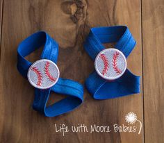 Baseball Patches for Barefoot Baby Sandals, Interchangeable Baby Barefoot…