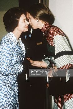 Queen Elizabeth ll kisses Princess Anne the Princess Royal. Princess Anne, Princess Margaret, Edinburgh, Queen Elizabeths Sister, Timothy Laurence, Prinz Philip, The Iron Lady, Royal Queen, Royal Life