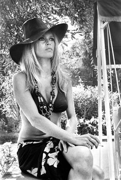The Brigitte Bardot Look Book   August 1, 1968  Where: In Saint-Tropez, France.