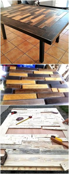 diy dining table out of pallets
