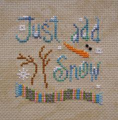 Snowman - Snow - Winter - Just add snow - Fun - Text