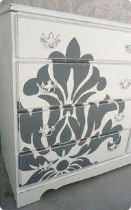 stencil dresser.                                                                                                                                                                                 More