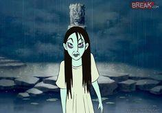 Mulan es Samara de 'The Ring'