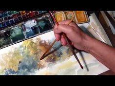 Hedwig's Art Landscape, scenery, watercolor - YouTube