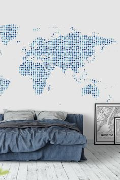 World map countries wall mural wall murals wallpaper paste and blue watercolor map wall mural gumiabroncs Gallery