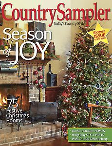 Relax and enjoy country decorating ideas and inspiration in Country Sampler magazine. Old Time Christmas, Christmas Room, Festival Decorations, Christmas Decorations, Holiday Decor, Country Crafts, Country Decor, Country Sampler Magazine, How To Make Purses