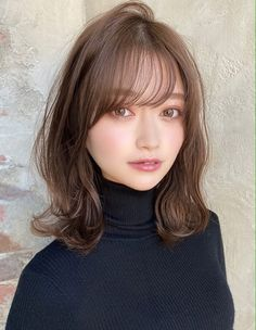 in 2020 in 2020 Medium Long Hair, Medium Hair Styles, Short Hair Styles, Cute Hair Colors, Cool Hair Color, Hair Inspo, Hair Inspiration, Japanese Hairstyle, Hair Images