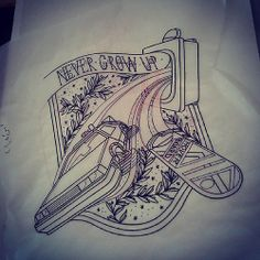 Back to the Future tattoo flash by Fat Manu