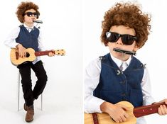 Bob Dylan costume- part of Oh Happy Day!s Little Musician DIY costume collection.
