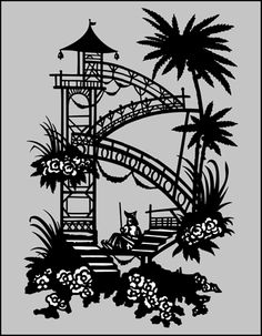 Click to see the actual CH70S - The Mandarin House (Silhouette) stencil design.