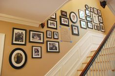 frame arrangement stairs - Google Search