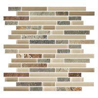 Breckenridge Stria with Glass Stone Mosaic Tile - 12 x 12 in. $24.99 Sq Ft Coverage 9.90 Sq Ft per Box