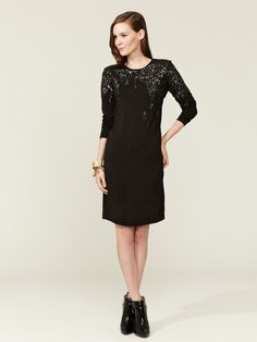 Sequin Embroidered Jersey Shift by Love Moschino on Gilt.com