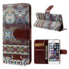 Javu - iPhone 6 - Wallet Case Hoesje Indisch Patroon Kleurrijk