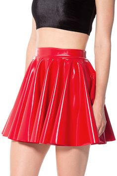 Take her out for a spin. Our cheerleader skirts are full, flouncy garments ideal for dancing, twirling, and looking generally stunning in. Super bright and craz Edgy Outfits, Fashion Outfits, Cheerleader Skirt, High Waisted Skater Skirt, Vinyl Skirting, Pvc Skirt, Vinyl Clothing, Black Milk Clothing, Heidi Klum