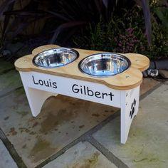 Large raised dog bowl set