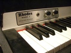 Fender Rhodes Mark I Stage Piano - no sweeter sounding keyboard than this bad boy through a Fender Twin Reverb
