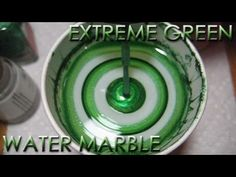 Extreme Green Water Marble | DIY Nail Art Tutorial | Addicted to Color Series - YouTube