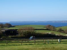 Penhale Caravan and Camping Park, Cornwall. Fantastic views from all areas of the campsite on our working organic farm on the outskirts of Fowey http://www.organicholidays.co.uk/at/2826.htm
