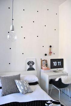 Minimalist Interior Design Ideas for Small Bedroom . Decor Scandinavian bedroom Don't have to share this bedroom! Home Bedroom, Bedroom Decor, Bedroom Ideas, Bedroom Designs, Girls Bedroom, Bedroom Black, Bedroom Office, Bedroom Simple, Home Office