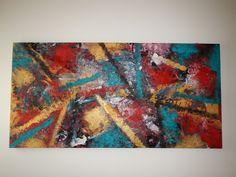 Acrilico e sabbia su tela formato 200x100