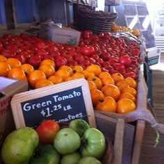 Farmers' Market - Freshness, taste, and stronger communities. Why wouldn't you uses local foods?