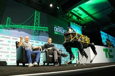 Boston Dynamics CEO Marc Raibert demos the Spot at Disrupt The audience at Disrupt got a surprise visit from Boston Dynamics Spot robot. While the companys YouTube channel is quite popular its even more impressive to see one of Boston Robotics robots in action.  Boston Dynamics founder and CEO Marc Raibert got interviewed by TechCrunchs Brian Heater. The two of them spent some time commenting a video of the companys various robots over the years from the BigDog to the anthropomorphic Petman…