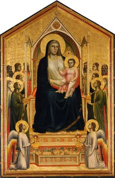 The Ognissanti Madonna by Giotto  This large altarpiece, painted by Giotto in 1310 circa, is a very important landmark in art history. It was painted for the Florentine Church of Ognissanti, hence the name.