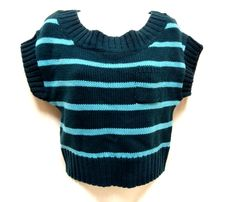 Its Our Time juniors crewneck striped cropped pullover sweater vest M XL NEW #ItsOurtime #Crewneck
