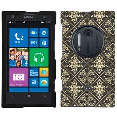 Nokia Lumia 1020 Victorian Pattern Beige on Grey Case $8.94