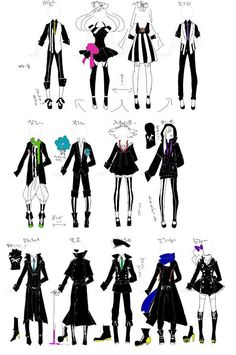 HTF Dress Drawing, Drawing Clothes, Cosplay Outfits, Anime Outfits, Anime Drawing Books, Happy Tree Friends Flippy, Htf Anime, Character Inspiration, Character Design
