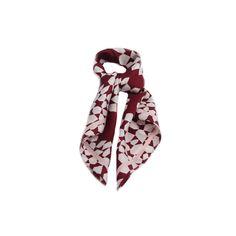 LENÇO GEOMETRICO VINHO MARSALA #lenços #lenço #scarf #scarfs