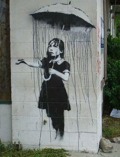 Banksy Graffiti Art<3