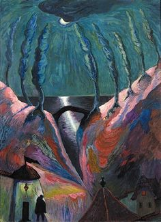 Marianne von Werefkin, Nuit Fantastique, c. 1910 by kraftgenie, via Flickr