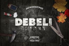 Debeli 2 Typeface - With this font you get two grunge/stamped style typefaces. This old school textured typeface is a great choice for vintage and retro design Typeface Font, Script Logo, Business Brochure, Business Card Logo, Retro Design, Free Design, Design Design, Graphic Design, Spring Font