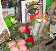 Photos of The Shrine In Front of David Bowie's Apartment Building