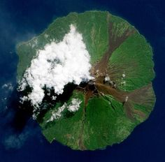 Cool volcano shot from above.