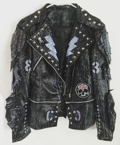 Rocker Jackets from Chad Cherry Clothing. Punk Rock jackets. Biker jackets. Heavy Metal jackets. Studded Jackets.