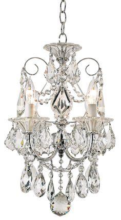 Schonbek Silver Palace Crystal Mini Chandelier   55DowningStreet.com