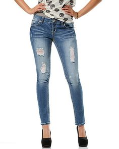 rue21 Destroyed Skinny Jeans. $29.99 Question is, am I skinny enough for skinny jeans...lol